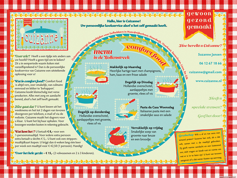 Placemat flyer